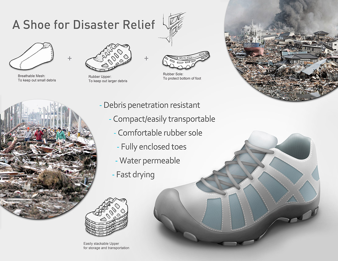 disaster relief shoe